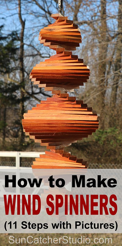 DIY Woodworking Ideas How to Make Wind Spinners (11 Steps with Pictures). Great for the garden, backya...