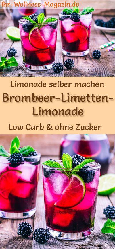 Brombeer-Limetten-Limonade selber machen – Low Carb & ohne Zucker