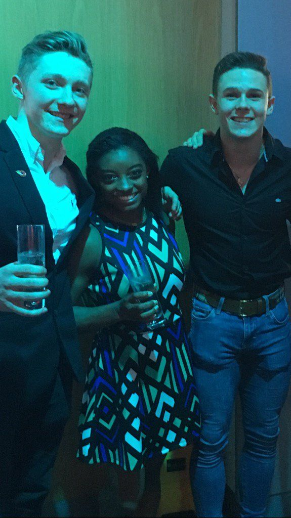 Fellow gymnasts: Nile Wilson, Simone Biles and Brinn Bevan