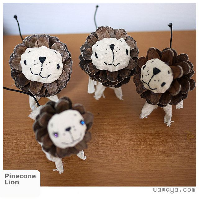 Pinecone Lion. too adorable (: