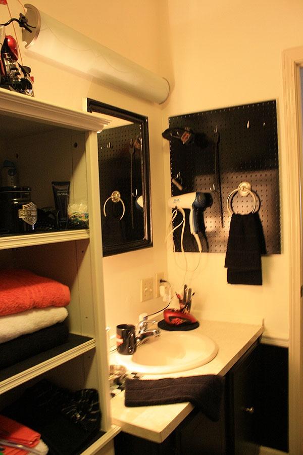 Manly Bathroom Storage