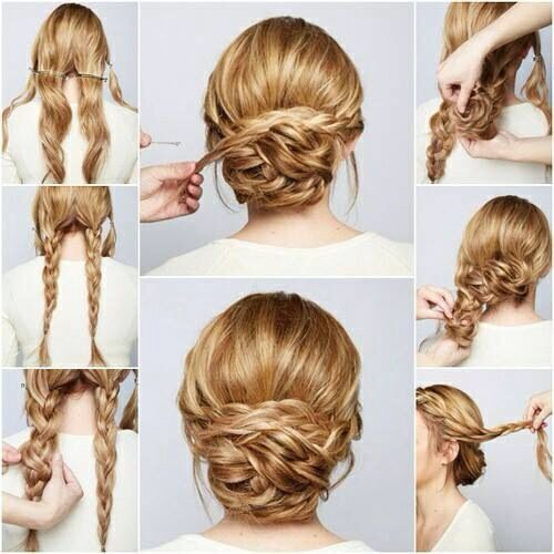 Elegant braided bun.  Love this!