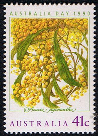 Australia 1990 Golden Wattle Fine Mint SG 1229 Scott 1163 Other Australian Stamps HERE
