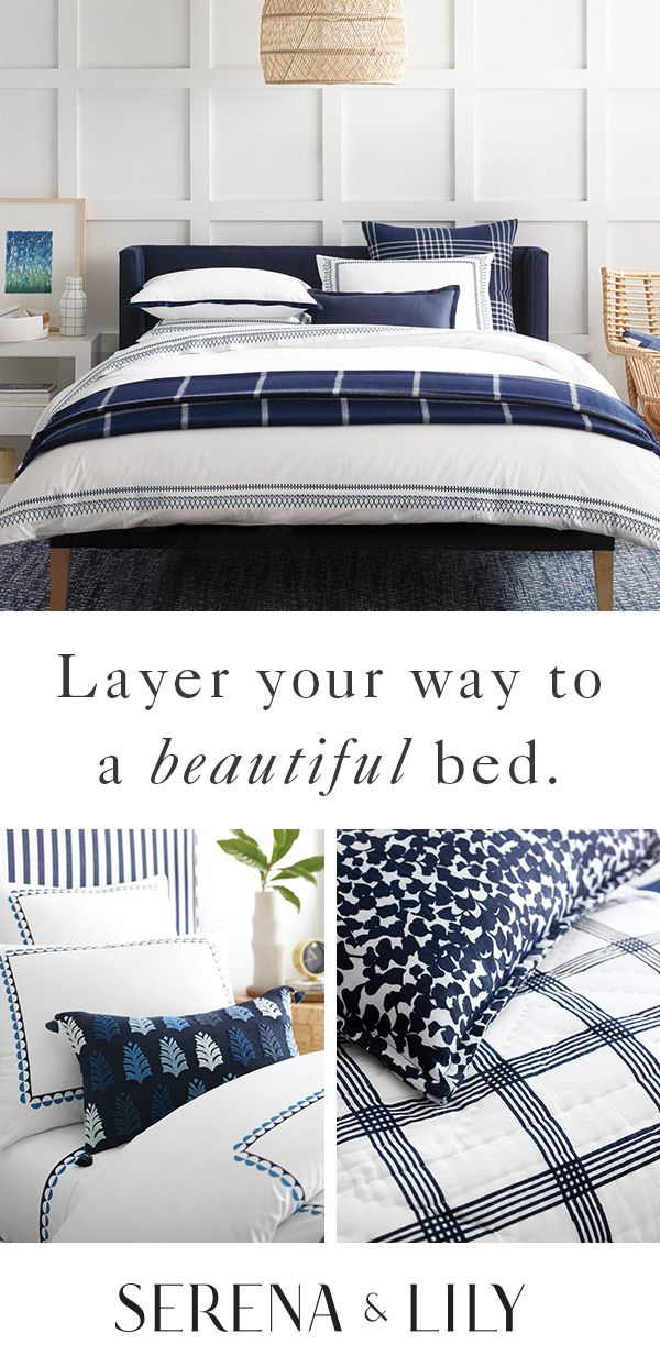 Everything you need to make your bed look and feel like your dream bed this fall at Serena and Lily!