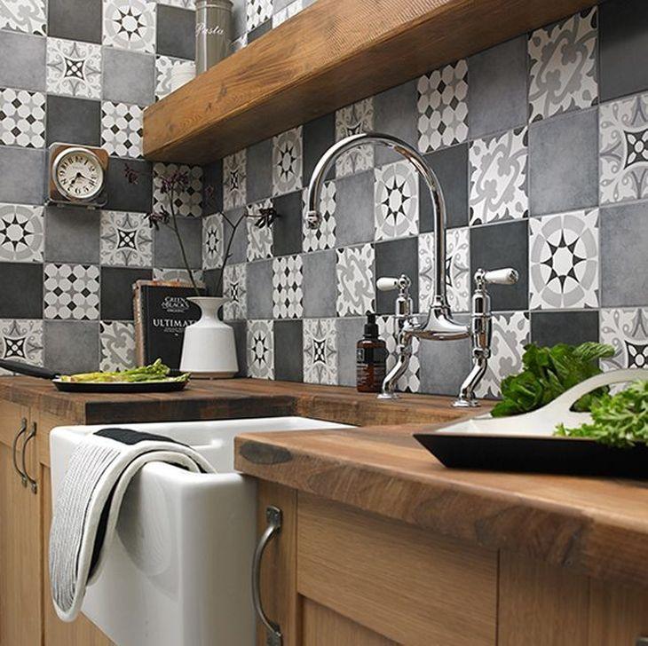 99 Fascinating Kitchen Backsplash Decoration Ideas For Your Kitchen Patchwork Kitchen Kitchen Wall Tiles Design Kitchen Tiles Design