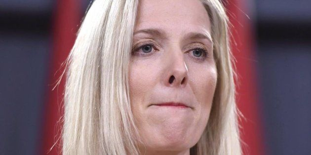 """Catherine McKenna: Liberal Environment Minister has an agenda to cripple Canada's economy by blocking oil pipelines/ mining projects. """"Climare change Barbie"""", is her well deserved nickname."""