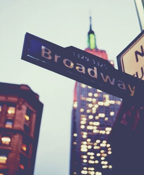 I wanna go to Broadway and be part of a show like an acting role but no singing... I can't even