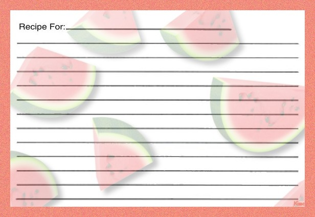 Recipe Card Paper Printables Pinterest Recipe cards and Free - printable loose leaf paper