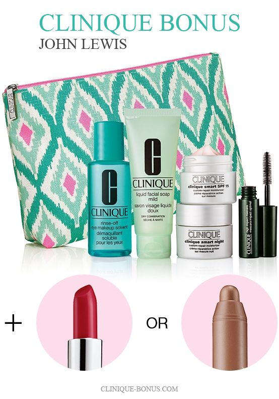 Online exclusive gift with purchase on the temebposubs.ga website. A 7-piece Clinique gift – yours free with any purchase of C$39 or more. You can choose your favourite trio (Skin Energizers or Standout Eyes) and you will also receive.