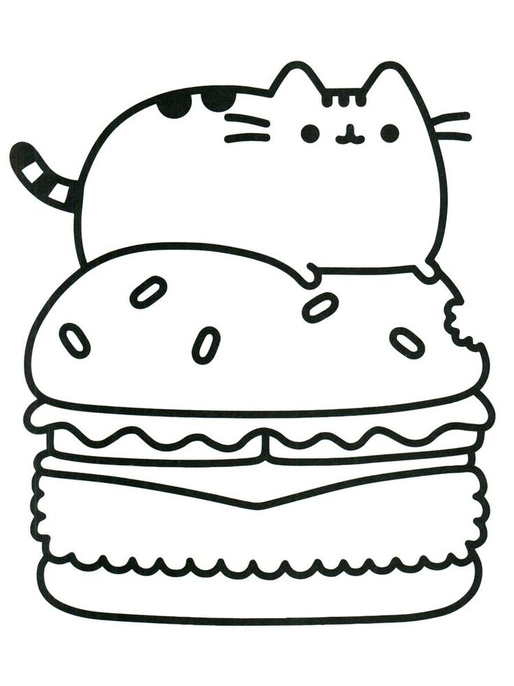 pusheen coloring pages donut 1 in 2020 cat coloring book