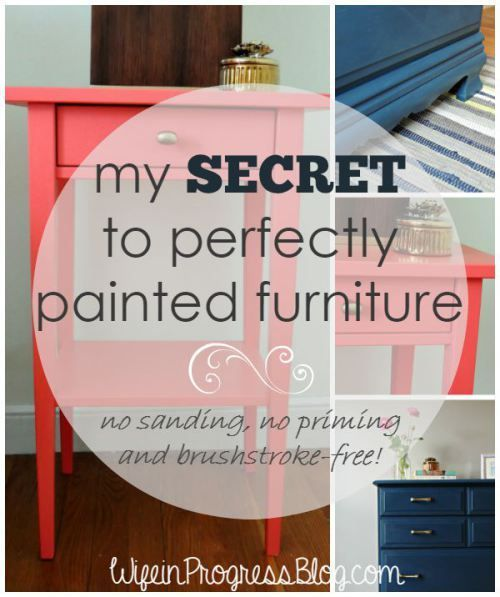 My Secret to Perfectly Painted Furniture ~  WifeinProgressBlog.com