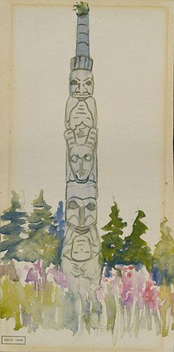 Yan, Q.C.I. 1912. Emily Carr. watercolour. BC Archives PDP00666