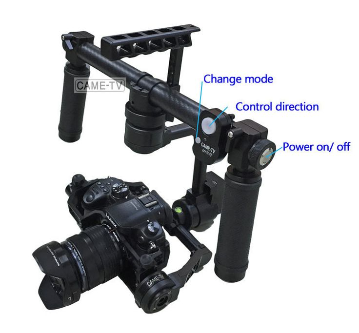 Light Stand Gimbal: CAME-MINI 3 Axis Camera Gimbal For GH4, A7s So On +Case