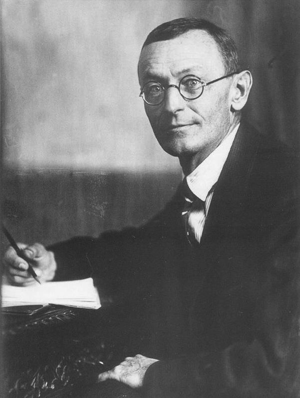 """Hermann Hesse:  """"Everything becomes a little different as soon as it is spoken out loud.""""  """"Eternity is a mere moment, just long enough for a joke."""": Creative Writers, Hermann Hesse, Defined Path, Pisci Writers, Bibliophile, Artist, Falling Leaves"""