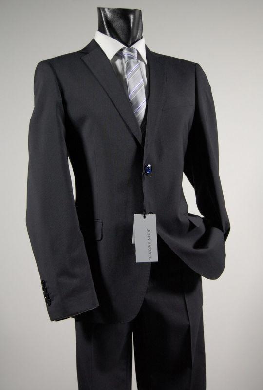 Pinstripe blue suit john barritt stretch