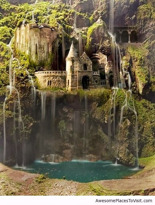 waterfall castle the enchanted wood Poland | Amazing ...