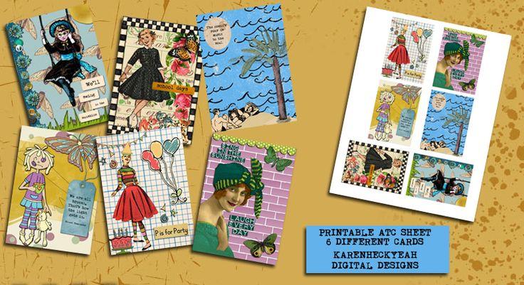 ATC Collection + Printable Collage Sheet