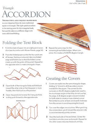 Tutoría libro acordeón triangular   -   Triangle Accordion Book tutorial http://www.pinterest.com/reginaschultz/bookbinding/
