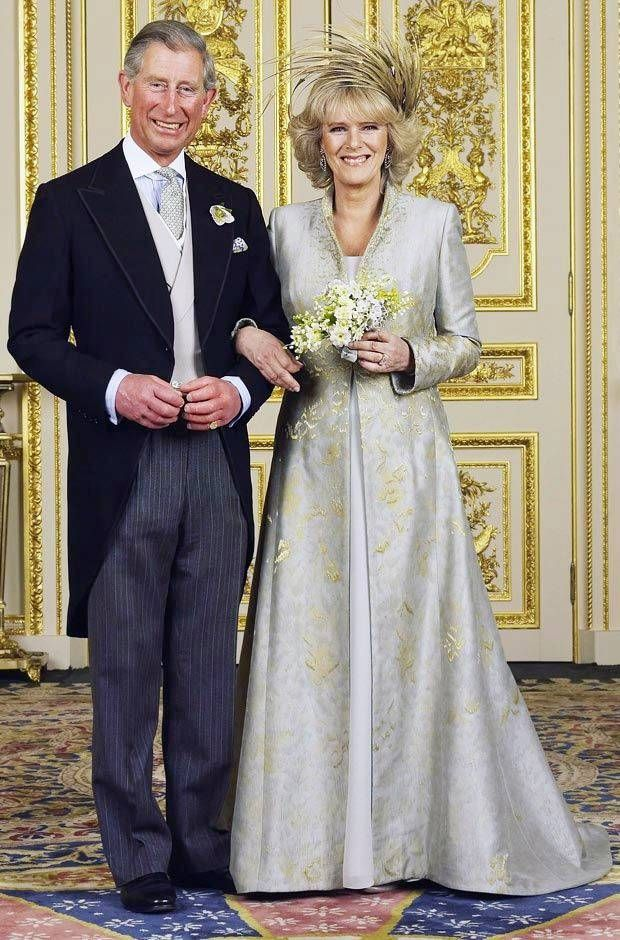 The official wedding photo of Charles, Prince of Wales and Camilla, Duchess of Cornwall on 9 April 2005