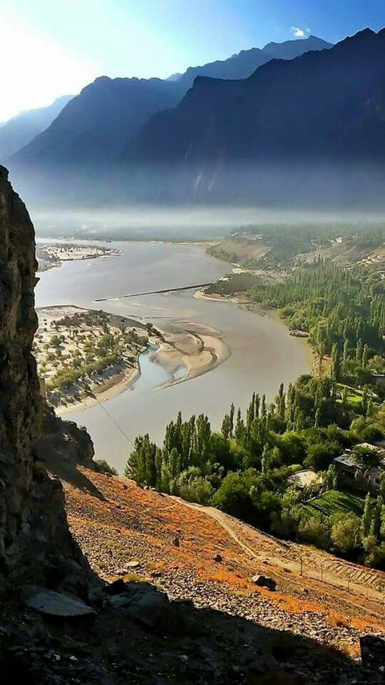 View of Indus River and Skardu city from Kharpocho Fort Gilgit, Baltistan   Credits : Muhammad Ahsan