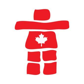 Canada Inukshuk Red