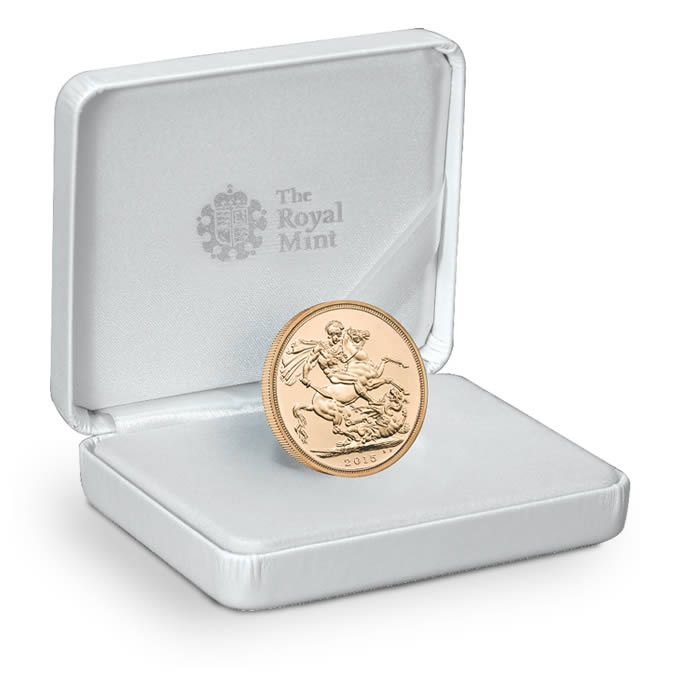 The 2015 Royal Birth Celebration Sovereign Struck on Day.   A flagship coin for a very special occasion. Just 750 to be struck. Features The Queen's fourth definitive coinage portrait. A highly collectable, distinguished souvenir. The Sovereigns struck on Prince George's birth sold out in days.