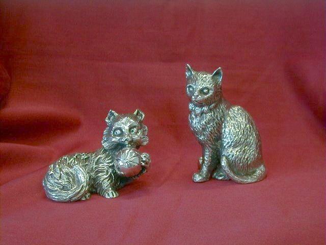 Silver Cats Dogale Jewellery Venice Italia www.veneziagioielli.com