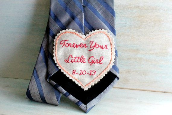 Necktie. Father of the Bride Gift. Father of the by sewhappygirls