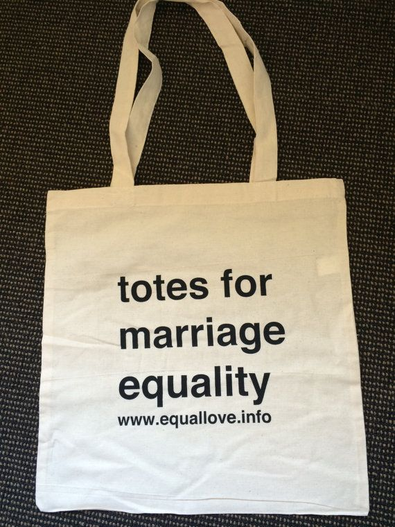 Totes For Marriage Equality - Fundraiser Canvas Tote Bag