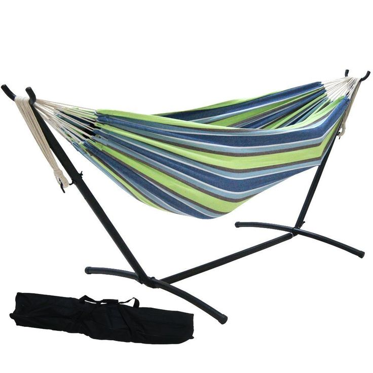Prime Garden 9-foot Double Hammock with Space Saving Steel Hammock Stand  (Elegant Tan Stripe), Brown (Cotton) #PG0033, Patio Furniture - Best 25+ Double Hammock With Stand Ideas On Pinterest Hammock