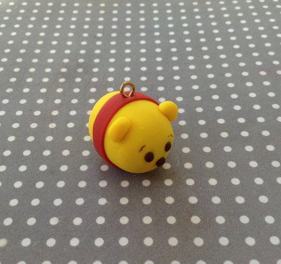 Winnie the Pooh Tsum Tsum  Polymer Clay by CharmShopByMary on Etsy