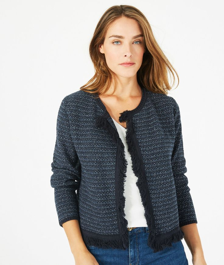 Petronille knit ink blue jacket - 123