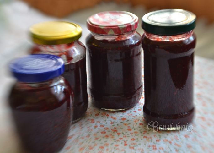 Pikantný jahodovo - černicový džem