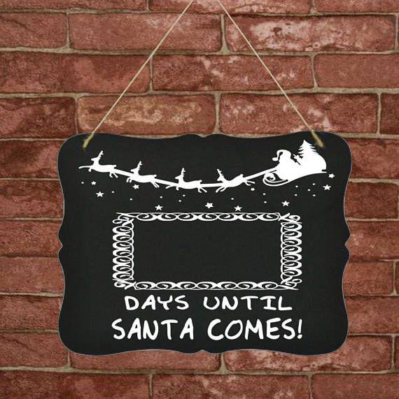 Days until Christmas Countdown board sign  Days til Christmas