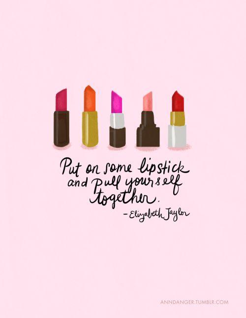 lipstick makes everything better