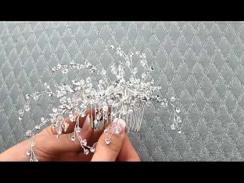 Dramatic Swarovski Crystal Hair Comb by Hair Comes the Bride