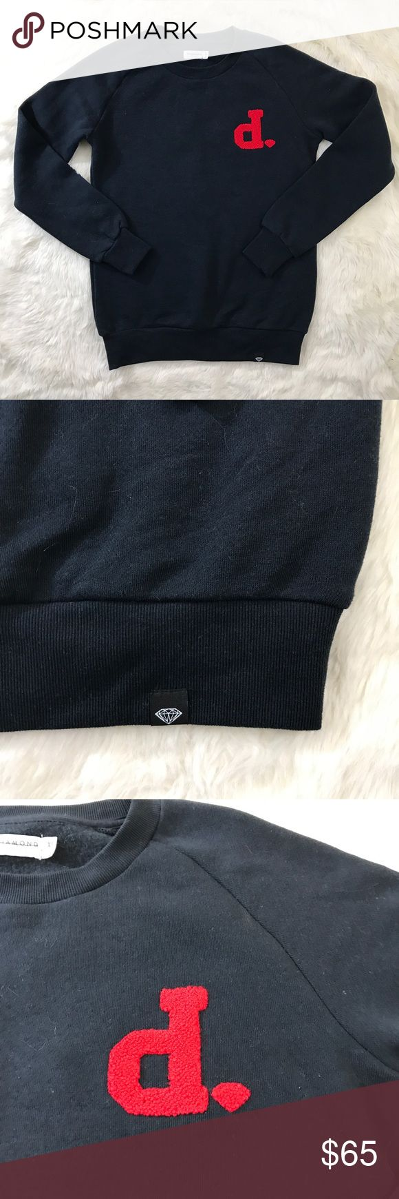 """Diamond Supply Women Blue Sweater crewneck Sz XS New without Tags. Diamond Supply size XS. Blue crewneck sweater. Measurements laying flat                    Pit to Pit 18"""".  Sleeve length 27.5"""" from collar. Length 25"""".  80%cotton 20%polyester Diamond Supply Co. Sweaters Crew & Scoop Necks"""