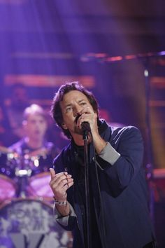 Music guest Eddie Vedder of Pearl Jam performs on Thursday October 24 2013