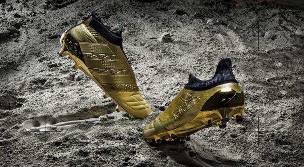 Space Craft | Adidas lança linha de chuteiras douradas em couro de canguru - Guia do Boleiro