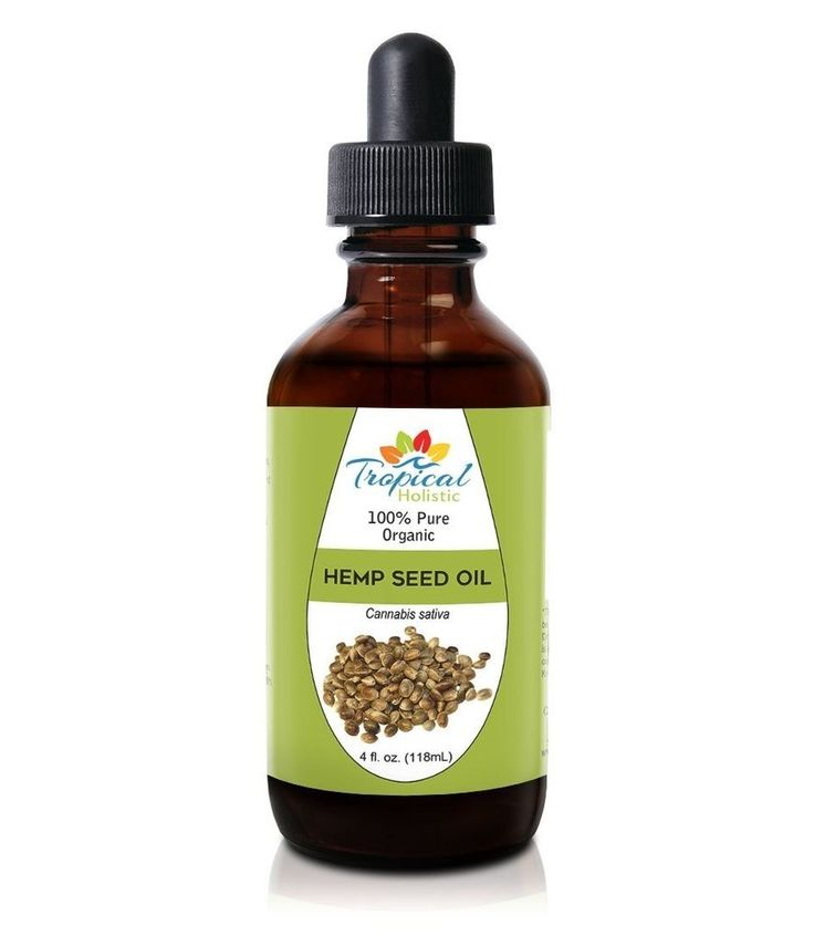 100% Pure Organic Hemp Seed Oil From USA 4oz Bottle Moisturizes Hair Skin, Packe #TropicalHolistic