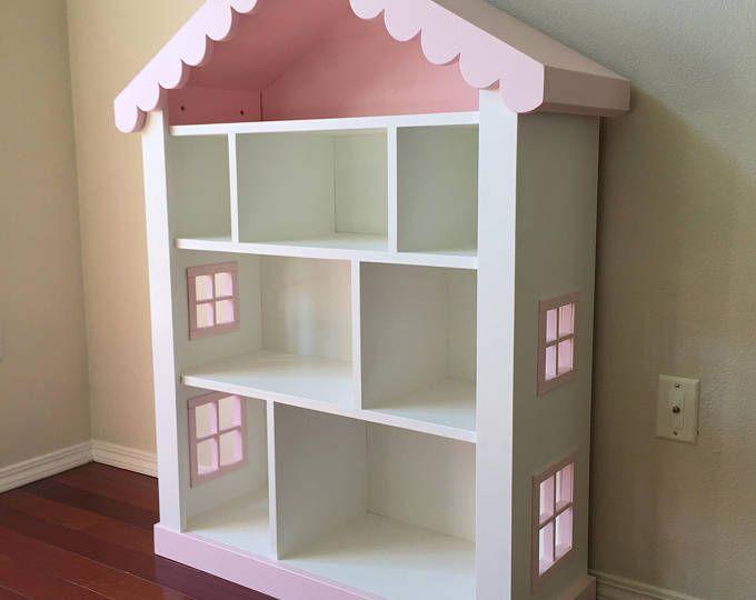 Dollhouse Bookcase, Kids Bookcase, Childs Bookshelf