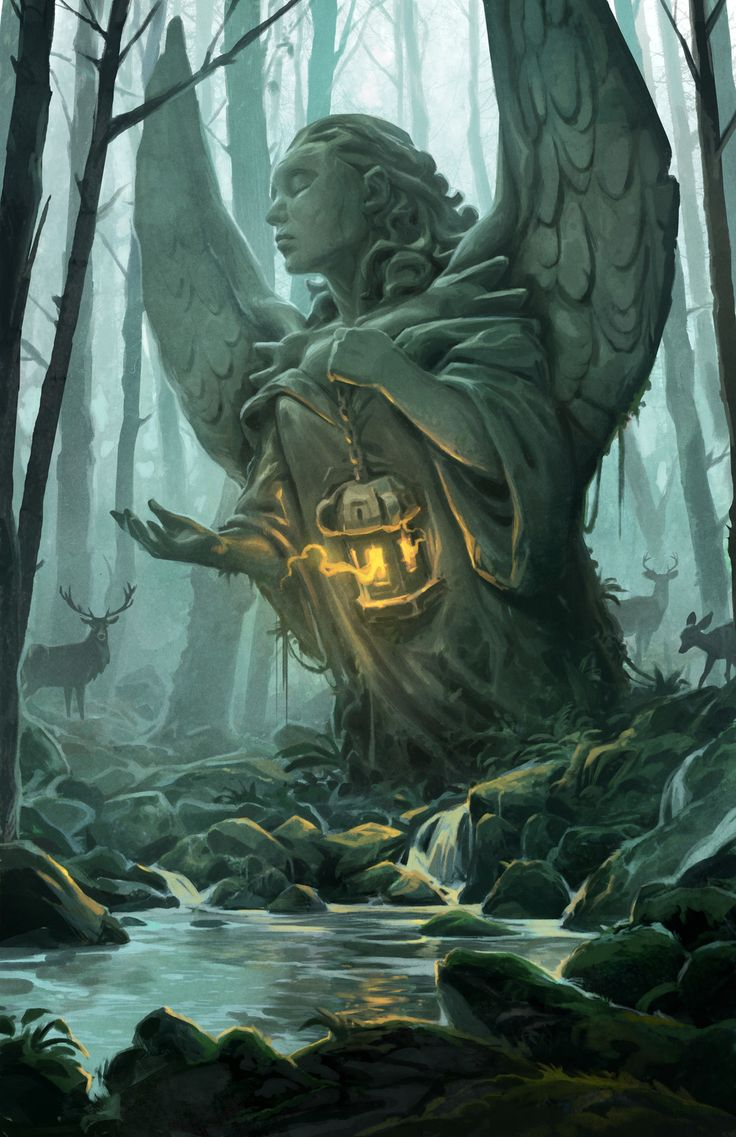 Forest Angel, Andrew Bosley on ArtStation at https://www.artstation.com/artwork/nbLqe