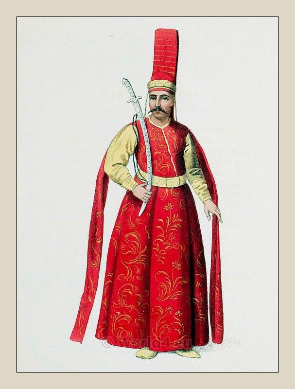 Silahdar Aga. Sword bearer. Turkish Sultan. Ottoman empire historical clothing