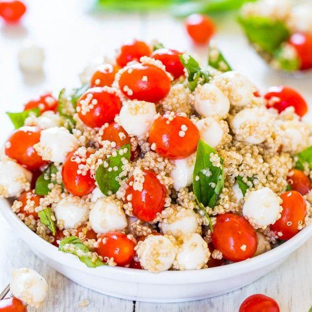 Tomato, Mozzarella, and Basil Quinoa Salad