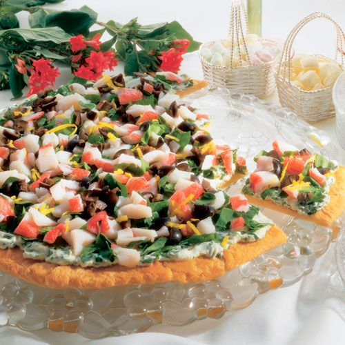 Garden+Seafood+Pizza+-+The+Pampered+Chef® www.ibelieveicanfry.us