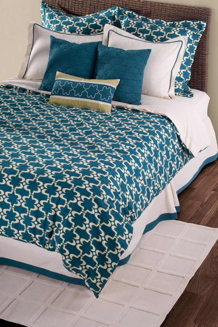 Peacock bedroom set - Cape Carley Bedding Set Moroccan Flair And Peacock Blue Combine To Create This Stunning Set
