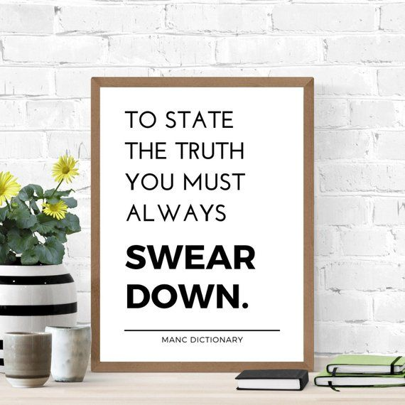 Minimalist Manchester Wall Art Quote Print Poster A4 A3 With