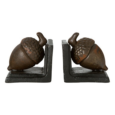 Acorn Bookends - Acorns, people!