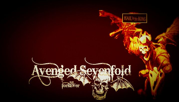 my artwork : A7X wallpaper Hail to the King. I try my best to created this.   :'D