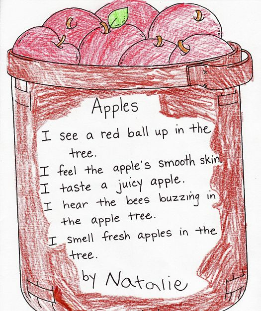 Five Senses Poetry for Apple Unit
